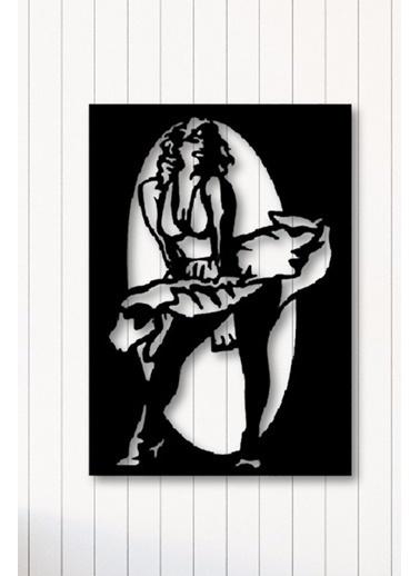 Angemiel Home Marilyn Monroe Metal Duvar Tablosu Siyah